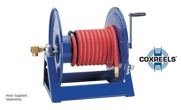 manual rewind hose reel from coxreel