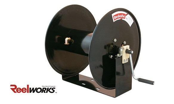 Manual rewind hose reel from reelworks
